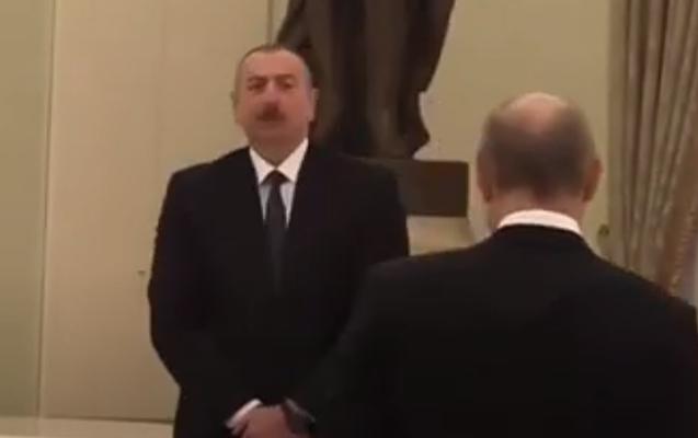 İlham Əliyevlə Putin arasında maraqlı dialoq - Video