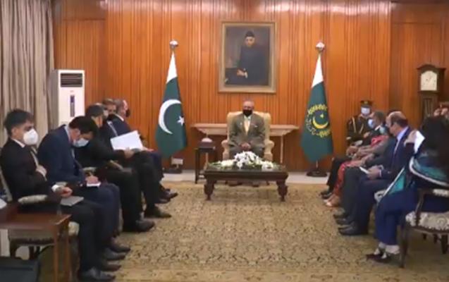 Ceyhun Bayramov Pakistan Prezidenti ilə görüşdü
