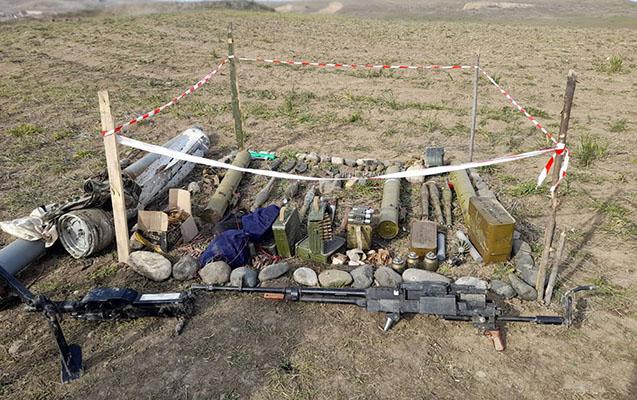Azad edilmiş ərazilər minalardan belə təmizlənir