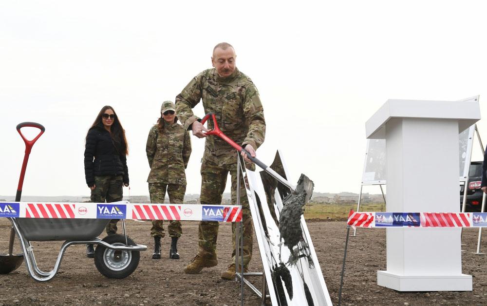 Füzuli-Şuşa yolunun və hava limanının təməli qoyuldu