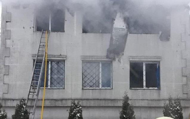 Xarkovda qocalar evi yandı