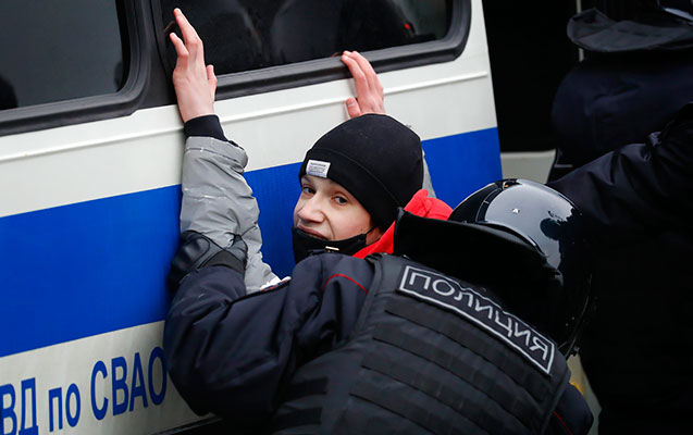 Moskvadakı aksiyada 15 azyaşlı saxlanılıb