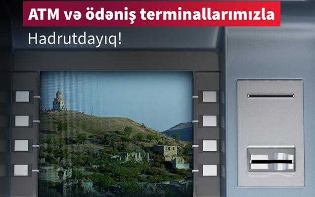 Kapital Bank Hadrutda bankomat və ödəniş terminalı quraşdırdı!