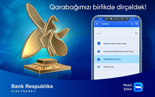 """""""Qarabağ Dirçəliş Fondu""""na ianələrinizi Mobil Şöbə əlavəsi ilə edə bilərsiniz"""