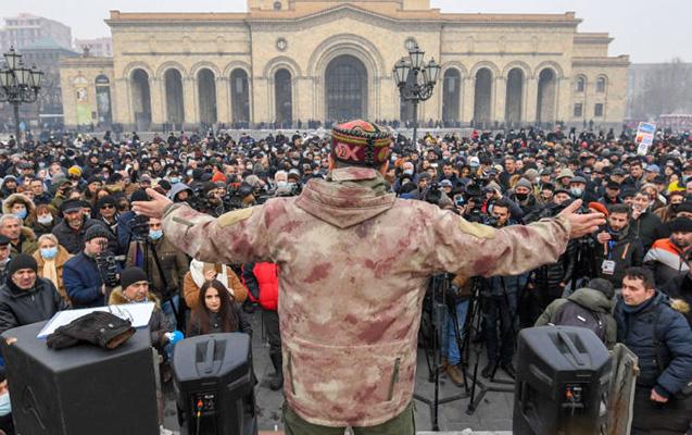 Ermənistanda daha bir aksiya