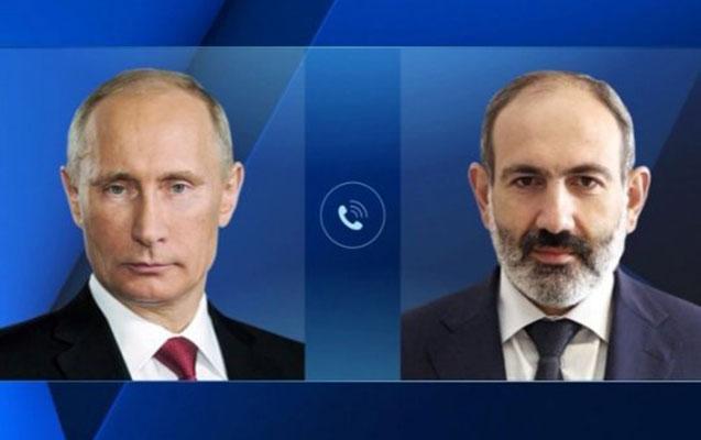 Putinlə Paşinyanın telefon danışığı oldu