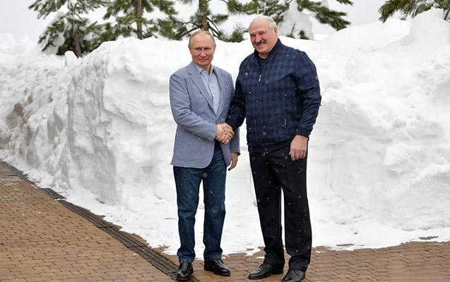 Putinlə Lukaşenkonun görüşü başa çatdı