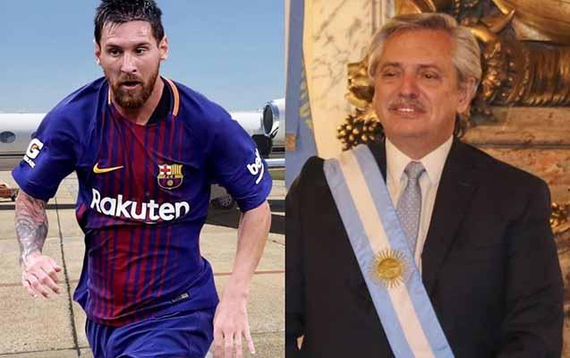 Argentina Prezidenti Messinin təyyarəsini icarəyə götürdü