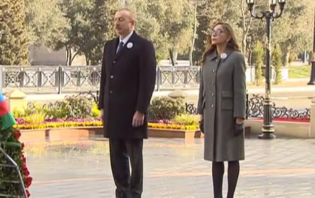 """Prezident xanımı ilə """"Ana harayı"""" abidəsini ziyarət etdi"""