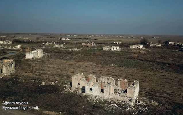 Ağdamın bu kəndi dronla çəkildi