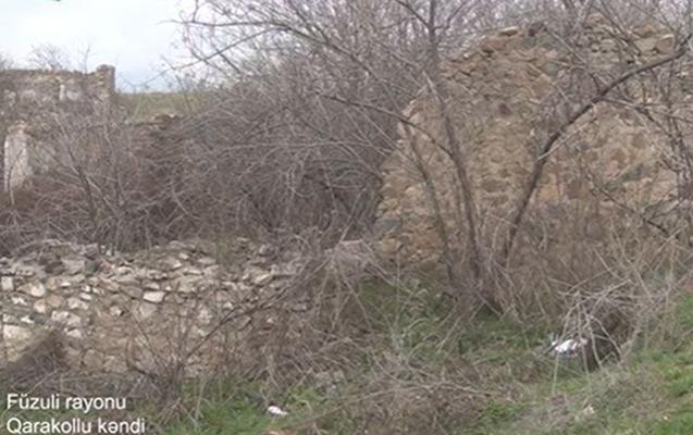 İşğaldan azad edilmiş daha bir kənddən - Video
