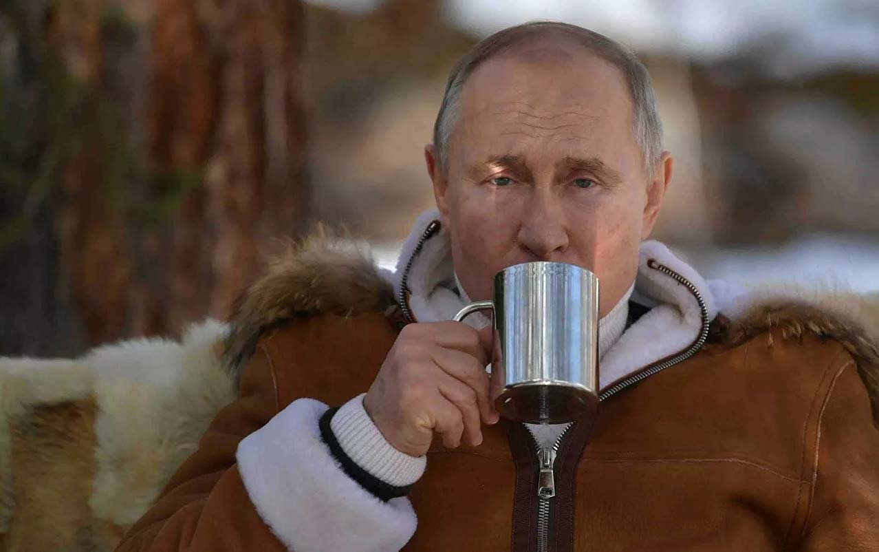 Putin istirahət gününü Sibirdə keçirib