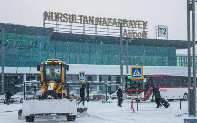 Nur-Sultan hava limanı müvəqqəti bağlandı