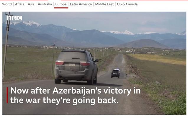 BBC işğaldan azad olunmuş ərazilərimizdən süjet hazırladı