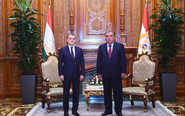 Tacikistan Prezidenti Ceyhun Bayramovu qəbul etdi