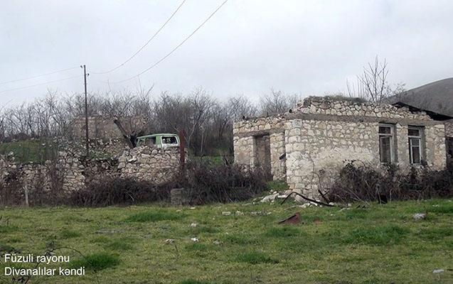Füzulinin daha bir kəndinin görüntüləri - Video