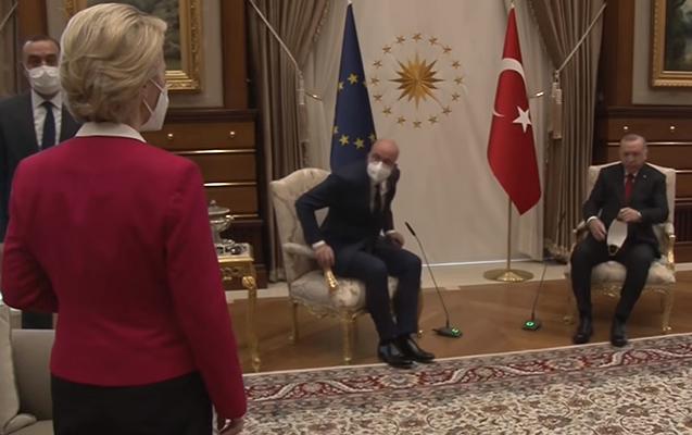 Avropa Komissiyasının sədri Ərdoğanla görüşdə pərt oldu - Video