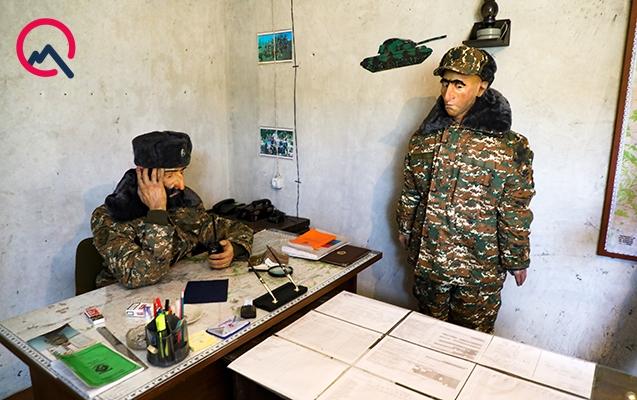 Ermənistan ordusunun bunkeri belə olub