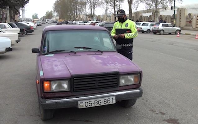 Yol polisi qayda pozan sürücülərə qarşı reyd keçirdi