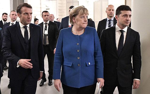 Makron, Merkel və Zelenski müzakirə aparacaq