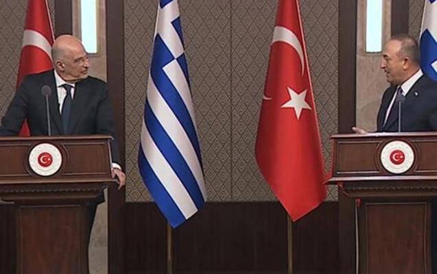 Yunanıstan XİN rəhbəri Ankarada mətbuat konfransında qalmaqal yaratdı - Video