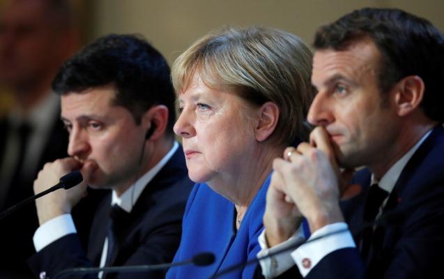 Makron, Merkel və Zelenskidən Rusiyaya çağırış