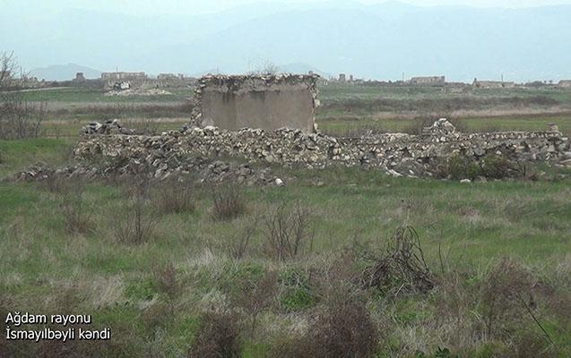 Ağdamın daha bir kəndindən görüntülər - Video