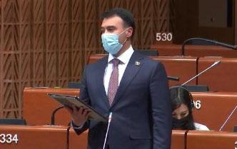 Azərbaycanlı deputat AŞPA-da ermənilərə sərt reaksiya verib