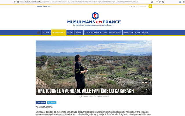 Ağdamdakı erməni vəhşiliyi Fransa mətbuatında