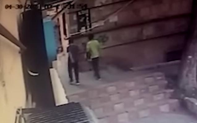 Bakıda bədbəxt hadisənin anbaan - Videosu