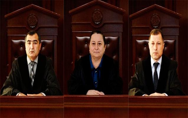 Üç hakim işdən çıxarıldı, ikisinə töhmət verildi
