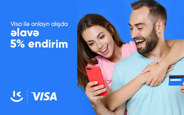VISA kartları ilə kontakt.az saytından alış-veriş et