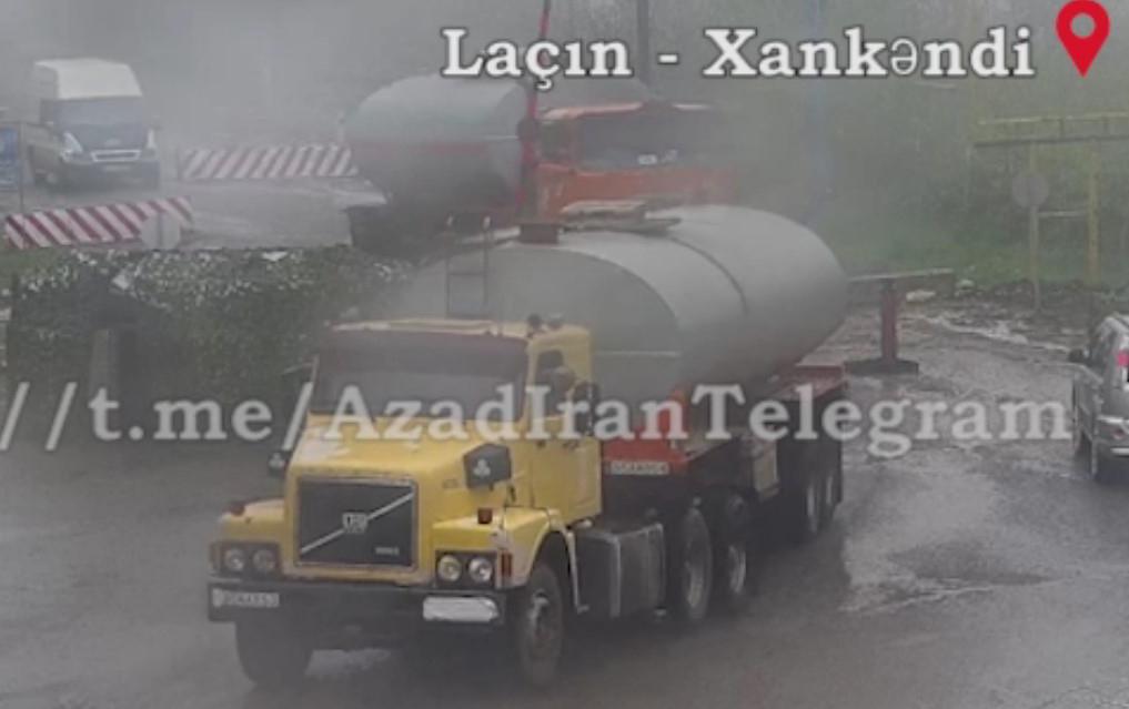 İrandan Laçın dəhlizi vasitəsilə Qarabağa şübhəli yük daşınır