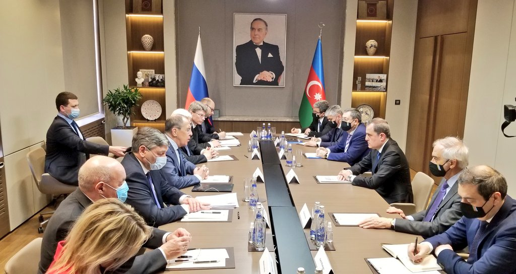 Bayramovla Lavrovun Bakı görüşü başladı - Foto + Yenilənir
