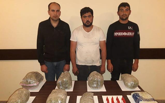 İrandan 18 kq narkotik gətirən 5 nəfər saxlanıldı