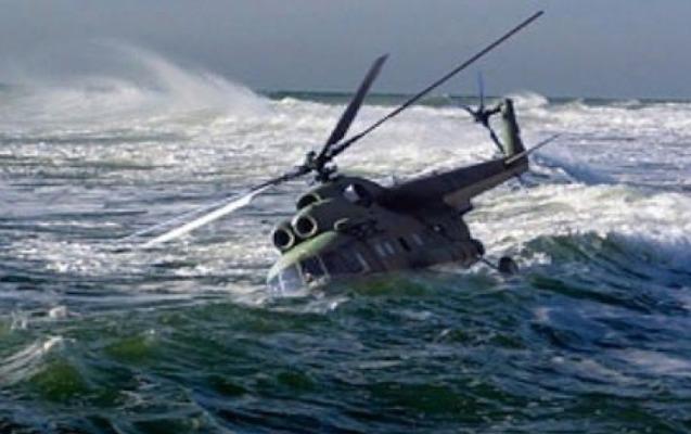 Rusiyada helikopter Ağ dənizə düşdü