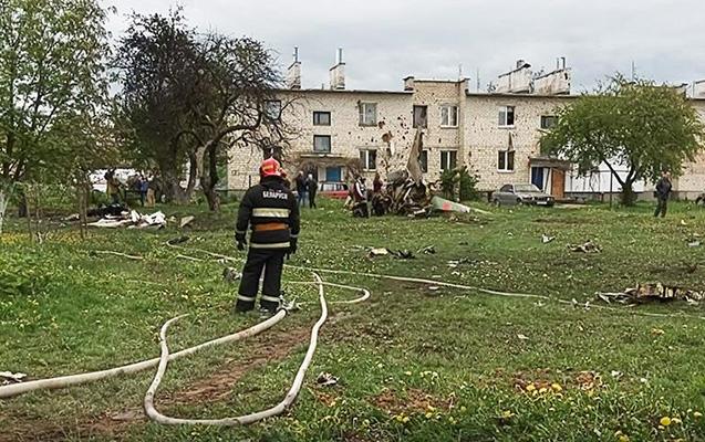 Belarusda hərbi təyyarə qəzaya düşdü, pilotlar öldü