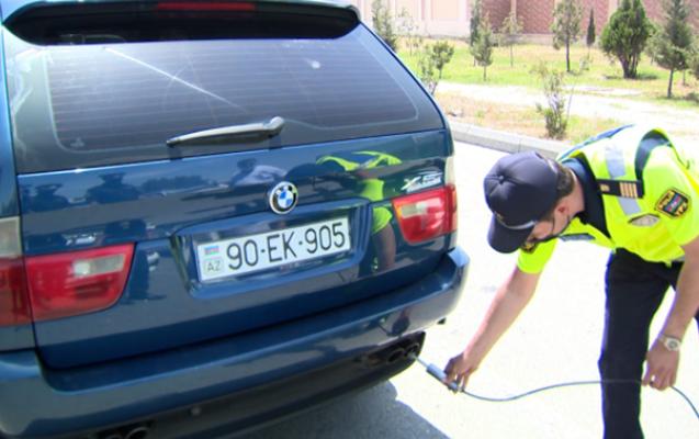 Yol polisi maşınları yoxlamaq üçün yeni cihaz alıb