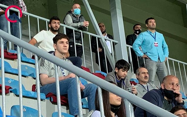 """Polad Həşimovun övladları """"Neftçi"""" - """"Qarabağ"""" matçında"""