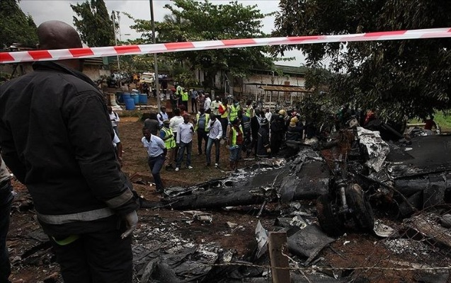Nigeriyada təyyarənin düşməsi nəticəsində ölənlərin sayı artdı