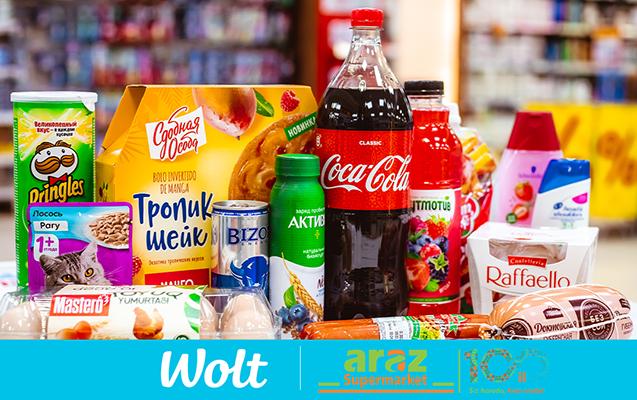 Wolt şirkəti Araz Supermarketlər şəbəkəsi ilə əməkdaşlıqda ərzaq çatdırılmasına başlayır