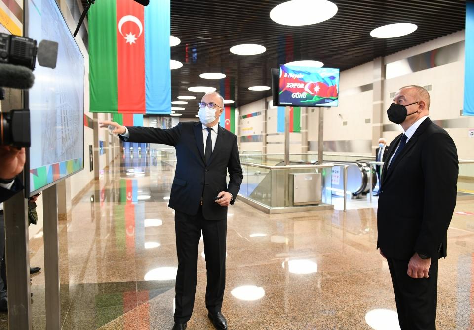 """""""8 Noyabr"""" stansiyası istifadəyə verildi - Fotolar + Yenilənib"""
