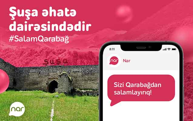"""""""Nar"""" işğaldan azad edilmiş ərazilərdə şəbəkəsini genişləndirir"""