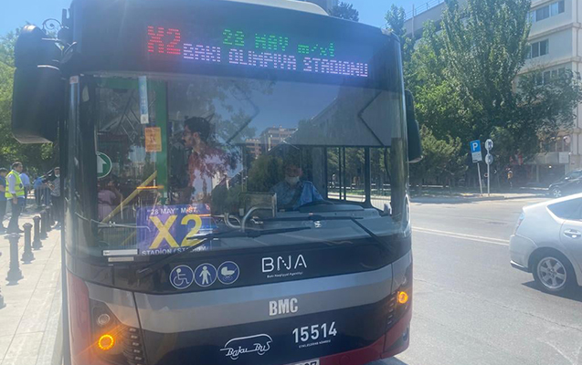 Azarkeşləri stadiona bu avtobuslar daşıyacaq
