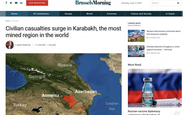 """""""Brussels Morning"""" ermənilərin Qarabağda minaladığı ərazilərdən yazdı"""