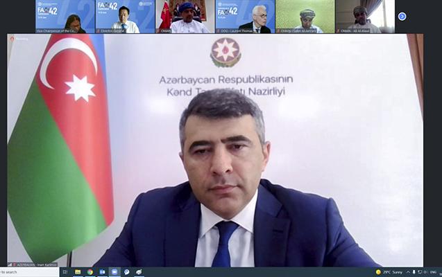 İnam Kərimov FAO-nun 42-ci sessiyasında çıxış etdi
