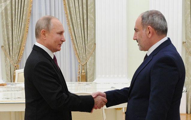Putin Paşinyanı təbrik etdi