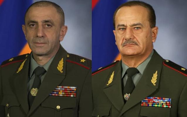 Ermənistanda daha iki general istefaya göndərildi