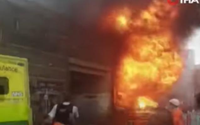 Londondakı partlayışda xəsarət alanların sayı açıqlandı + Video