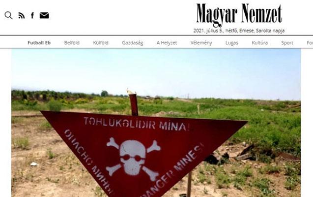 Macar jurnalist işğaldan azad edilmiş rayonlardan yazdı